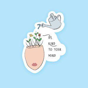 "4.5"" Be Kind to Your Mind Boho Sticker"